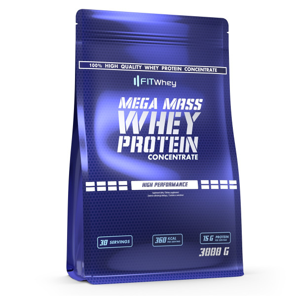 FITWHEY MEGA MASS WHEY PROTEIN CONCENTRATE 3000g